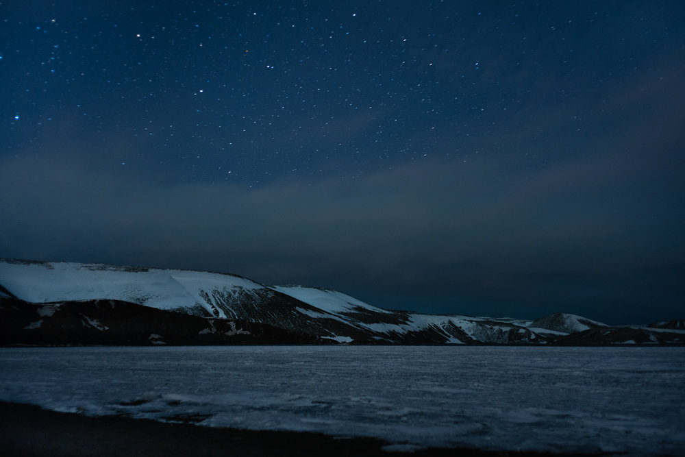I'm not sure what this glacier is called. I shot it on a Northern Lights viewing trip about an hour outside of Reykjavik. The frozen, desolate wastes under the endless, open sky. It's crazy to think how fast you would die out here if you lost your way.