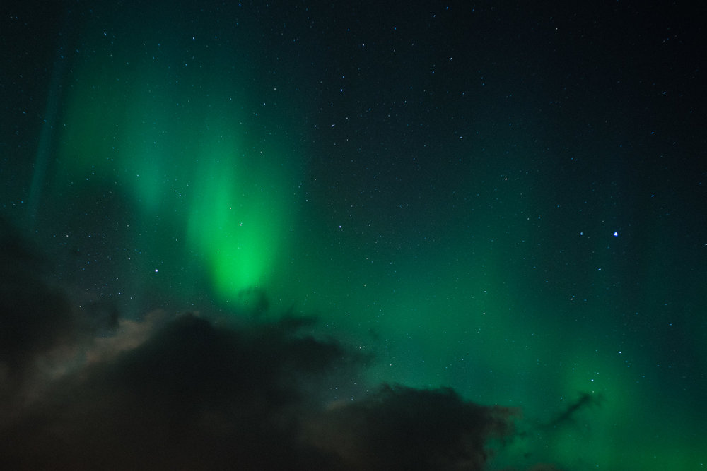 Close up of the Northern Lights