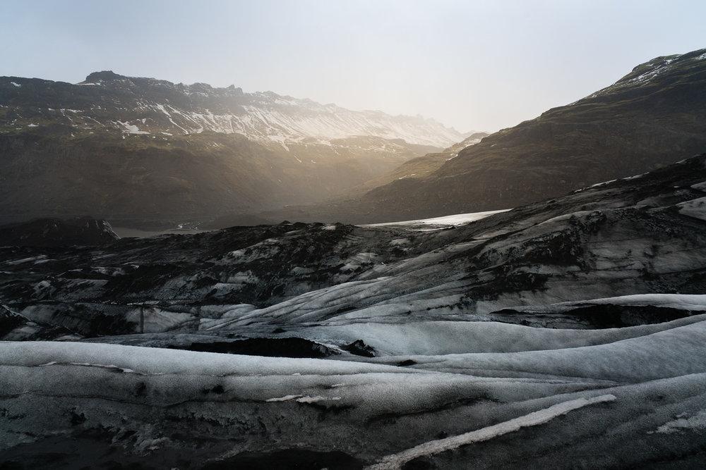 Sólheimajökull glacier.