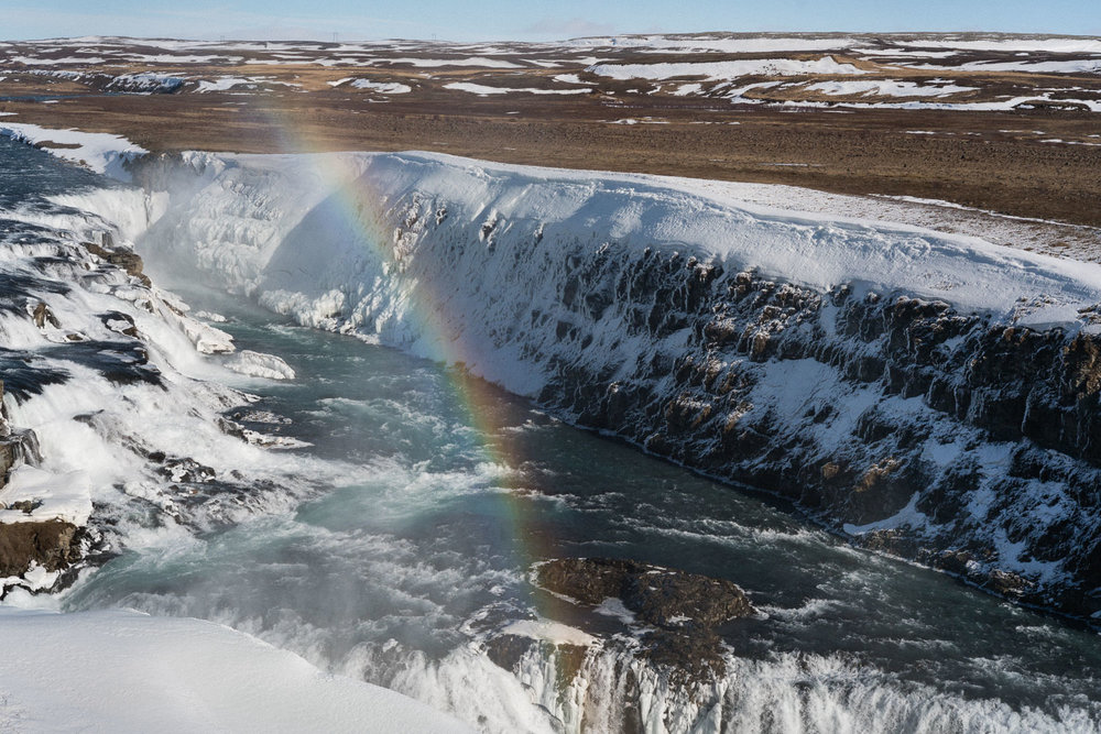 Gullfoss, the Golden Waterfall. Not for nothing, there is quite a lot to see in the Golden Circle all conveniently located within a few hours of Reykjavik. More time is always better but one can do a pretty good short trip here.