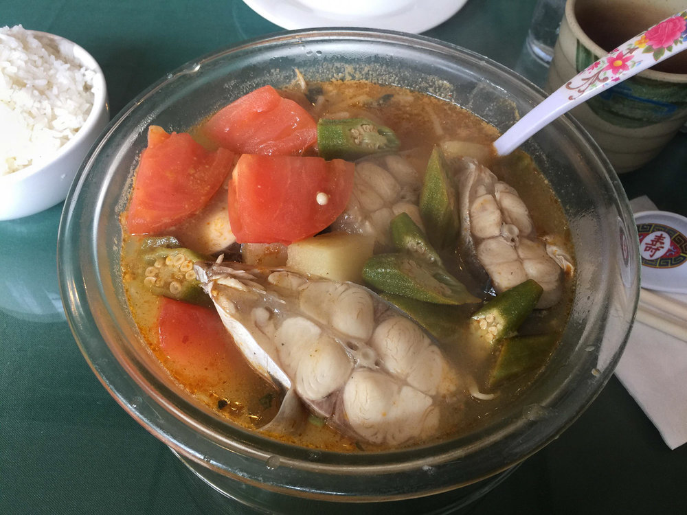 Canh Chua (sweet and sour catfish soup at Thai Son. If you're not Vietnamese they will automatically give you salmon in your soup but the proper way is catfish. You have to ask for it.