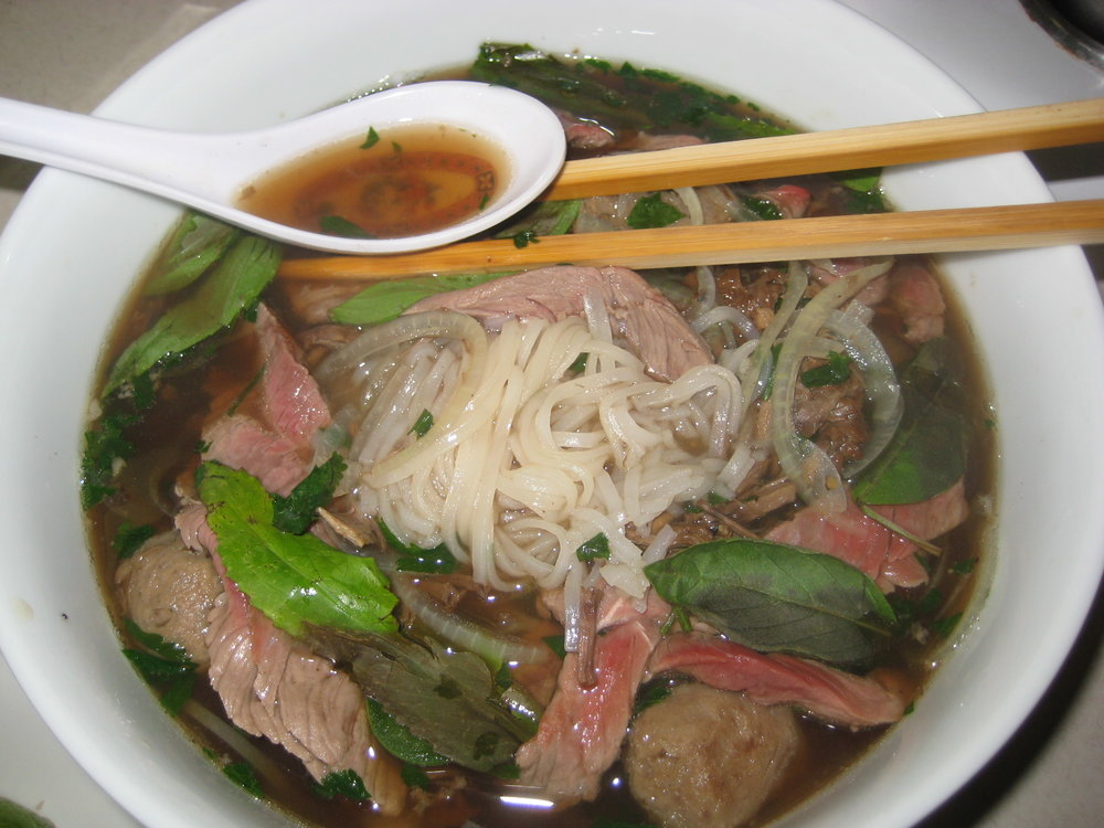 A proper bowl of pho. Brisket, round eye, navel, tendon, beef balls. Google Images.