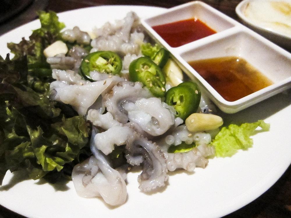 Sik Gaek's infamous octopus. Google Images.