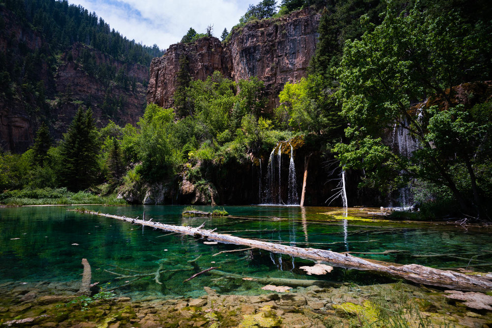 The famous Hanging Lake. Short but vigorous climb up. This hike was one of the highlights of the trip.