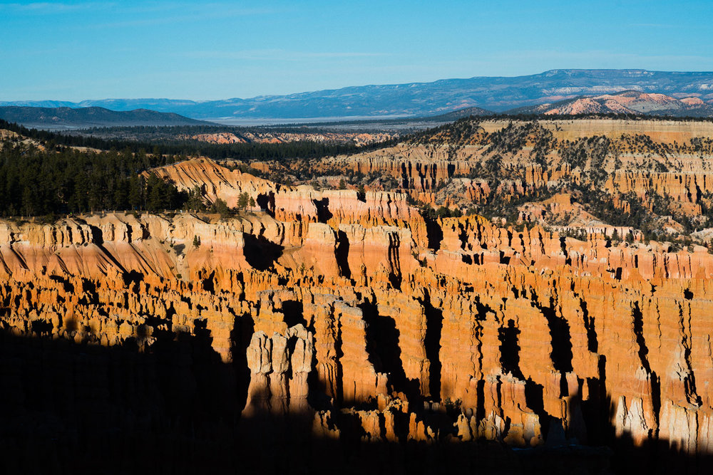 Sun setting over the Amphitheater. I went down and explored a bit but you can easily spend days hiking around the hoodoos.