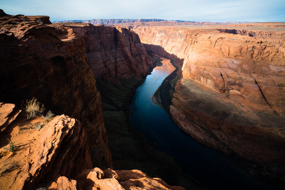 Beautiful colors of the slowly meandering Colorado river.