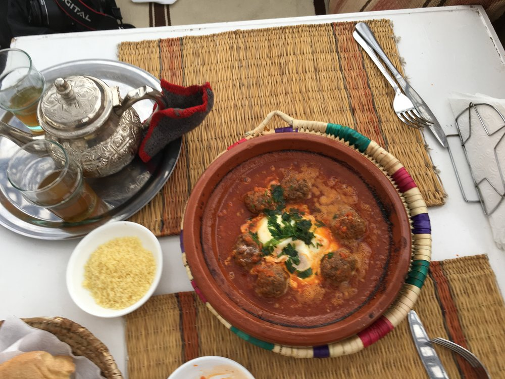 First Tajine made with meatballs and couscous