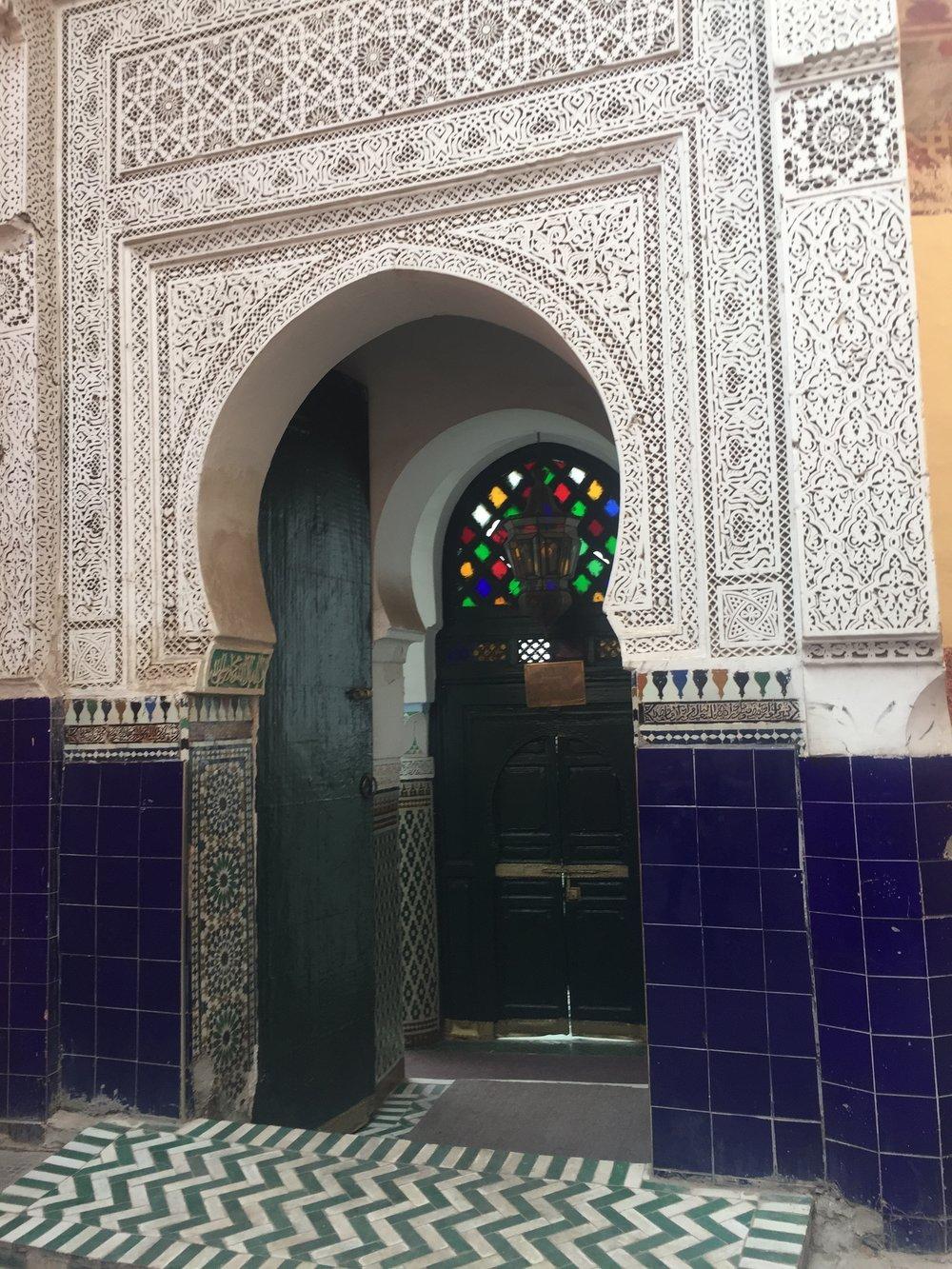 An entrance to a mosque (Non-Muslims weren't allowed inside
