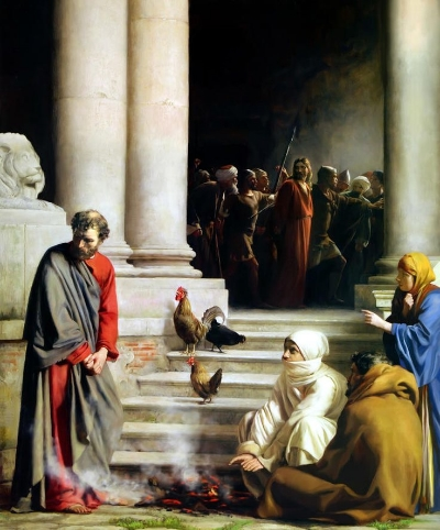 Peter's Denial, Carl Heinrich Bloch, Photo creds: Fine art America