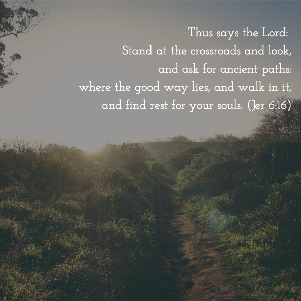 The scripture verse I reflected on this week through The Artist's Rule. Try writing these lines down and bringing them with you on a walk! Get your inner monk on ;)