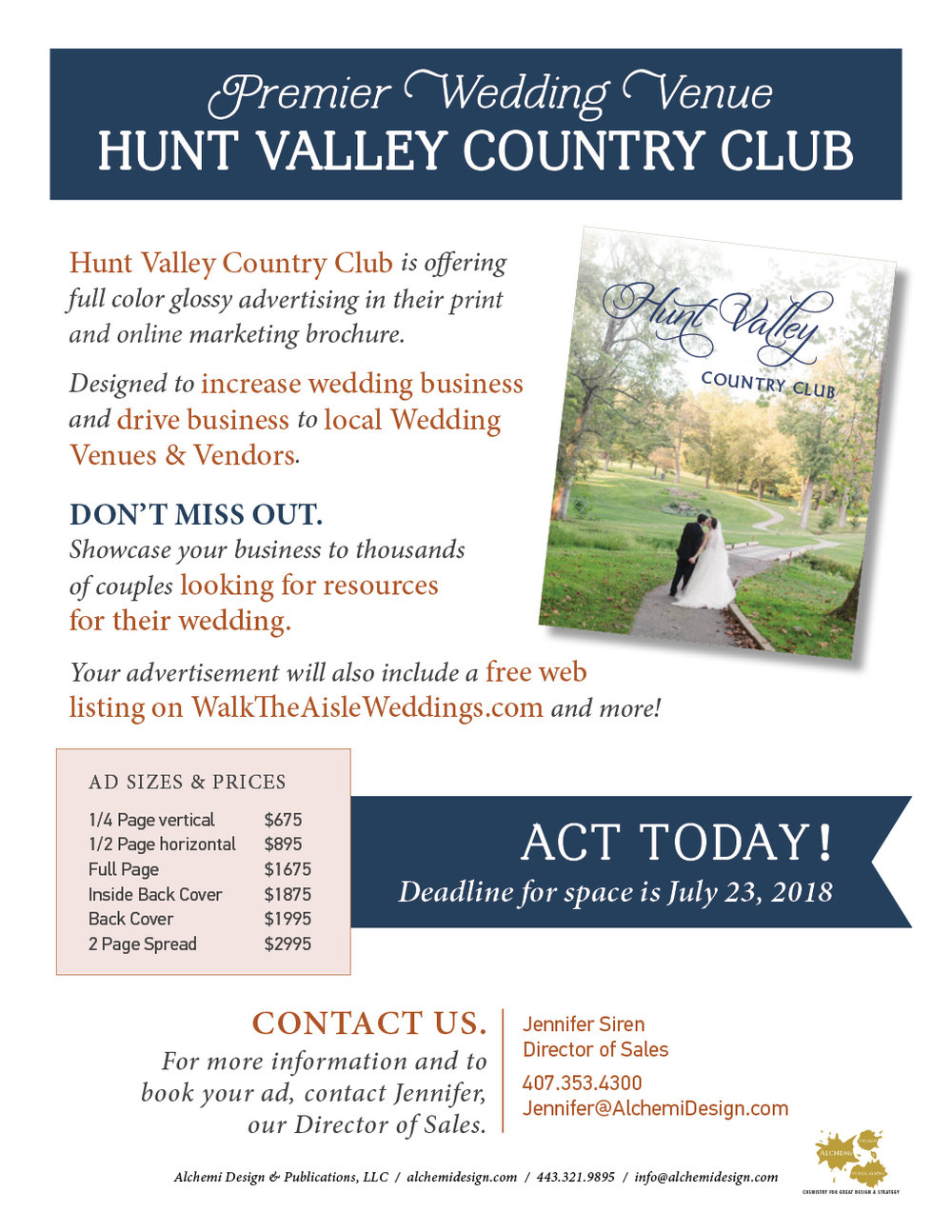 Hunt Valley CC Sales Flyer