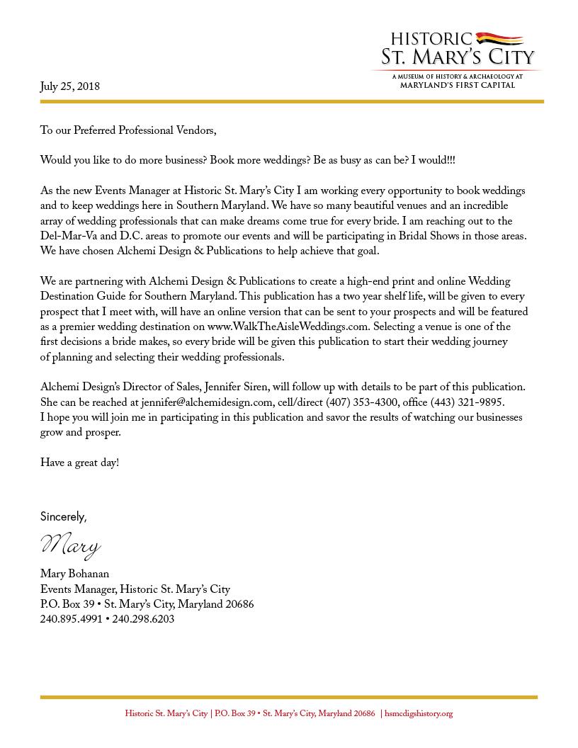 Letter from Mary Bohanan