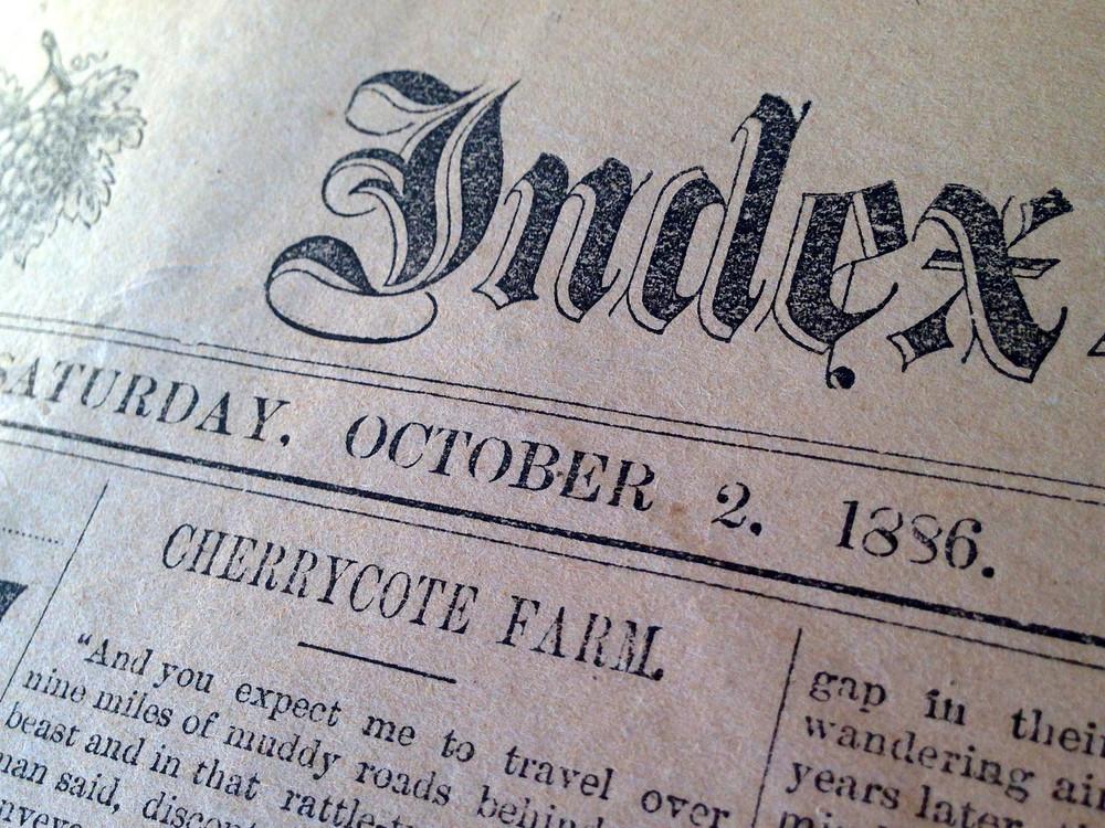1886 Sonoma Index Tribune Praises Eden Dale fruit