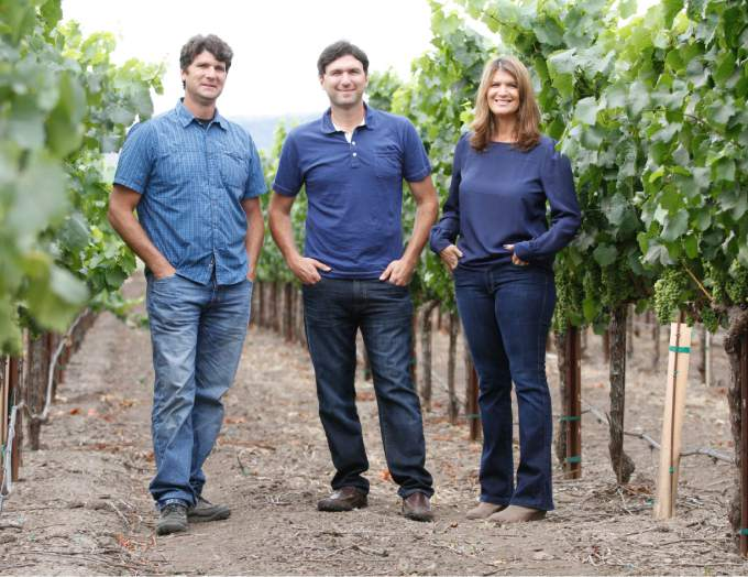 Mike and Steve Sangiacomo and Mia Pucci are third-generation winemakers at Sangiacomo Vineyards. The entire Sangiacomo family are honored as the Sonoma County Farm Bureau's Farm Family of the Year on July 16, 2015. (Bill Hoban/Index-Tribune)
