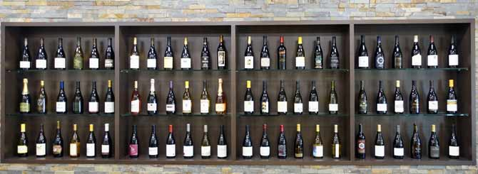 © Wine-Searcher | The bottles are from the wall display in their office. All of them include Sangiacomo fruit, whether they say it on the label or not.