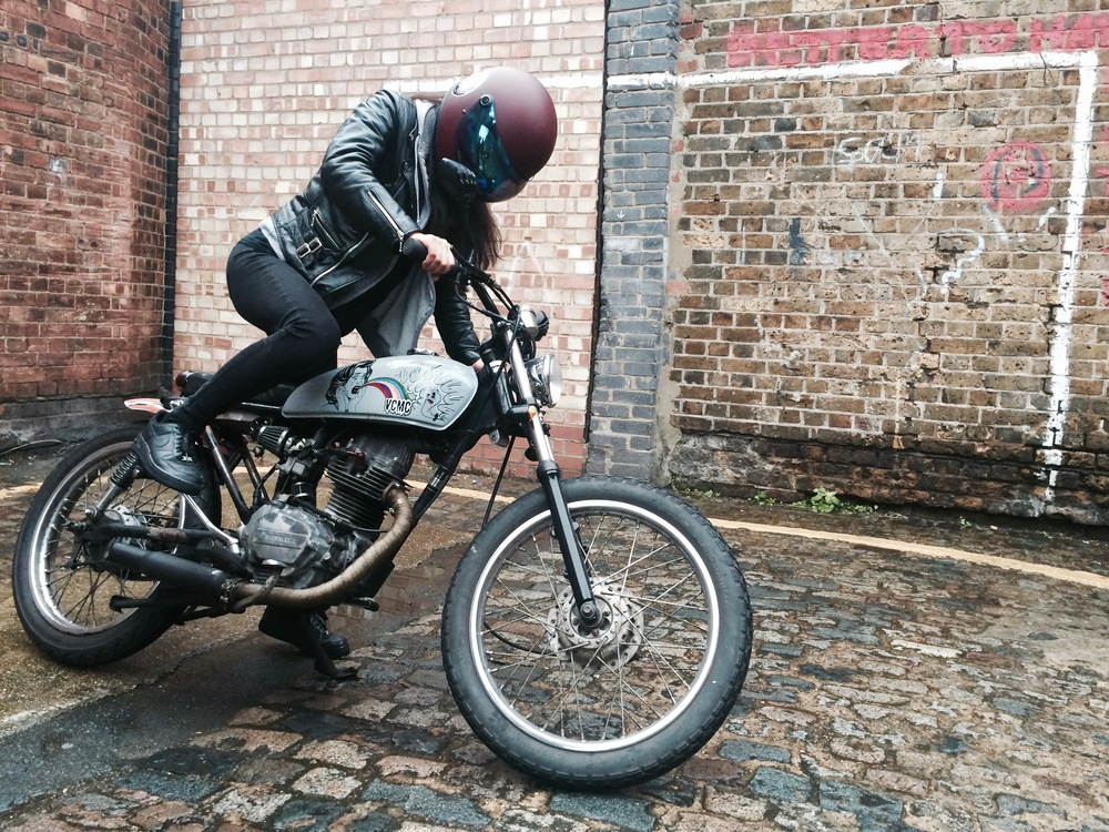 PHOTO:  GEMMA HARRISON - NAMIN ON HER CG125