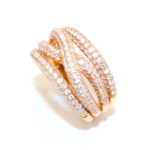 Rose Gold Multi Diamond Strand Ring