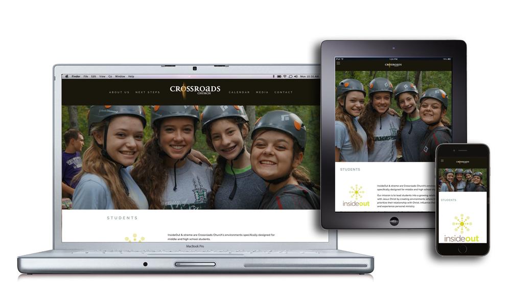 Crossroads church Responsive Website Design