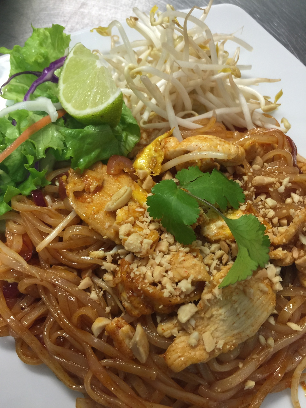 Pad Thai + Chicken.