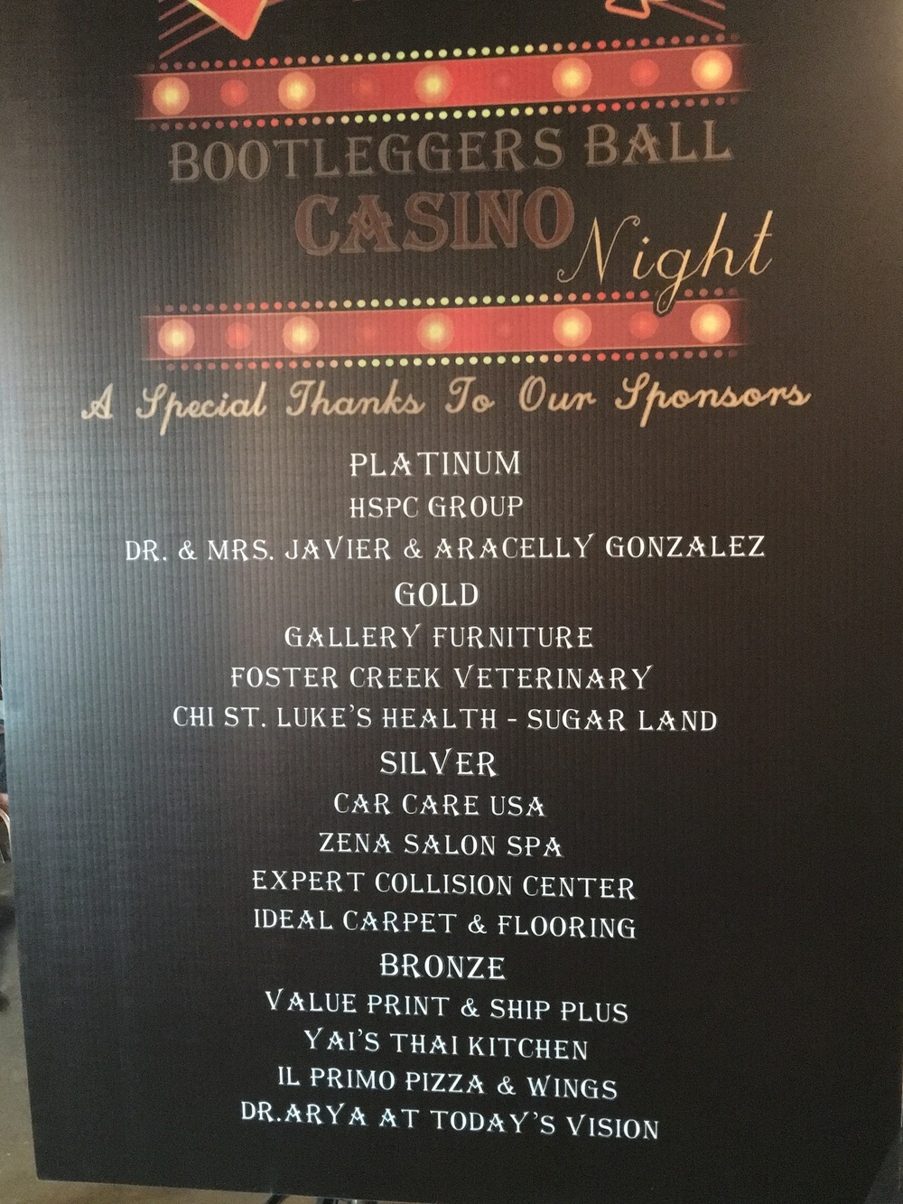 Bootlegger's Ball and Casino Night