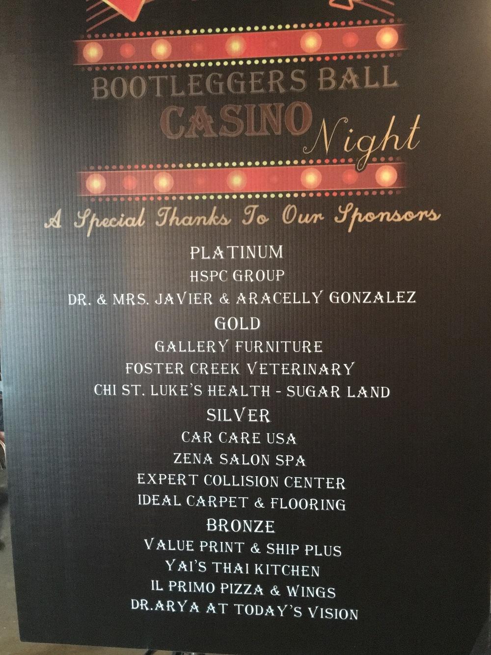 Bootlegger's Ball and Casino Night