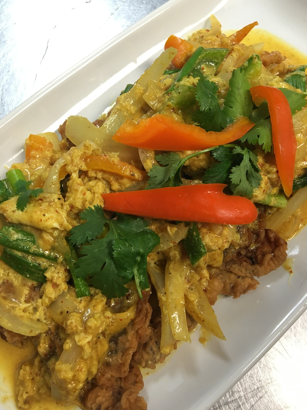 Soft Shell Crab in Yellow Curry Sauce