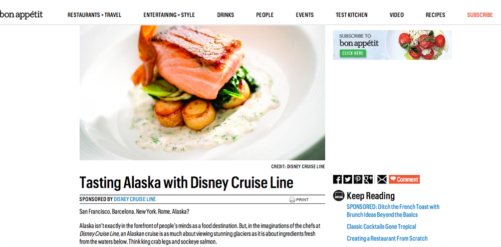 Native: Tasting Alaska With Disney Cruise Line