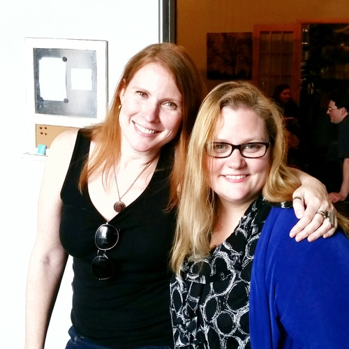 Co-workers and business partners by day, hostesses with the mostesses by night. Monica and Merritt at the 2015 M&C Spring Party.