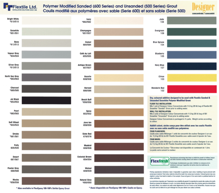 Perfect Flextile Grout and Thinset — Caltec Flooring UV77