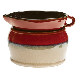 Reminiscent of the amazing horizons of the West, Pendleton has an earthen base capped with a shiny maroon glaze.