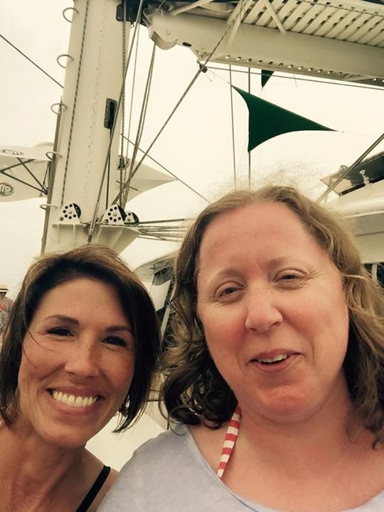 with one of the owners of Scentsy, Heidi Thompson on a private boat on my 4th Incentive Trip