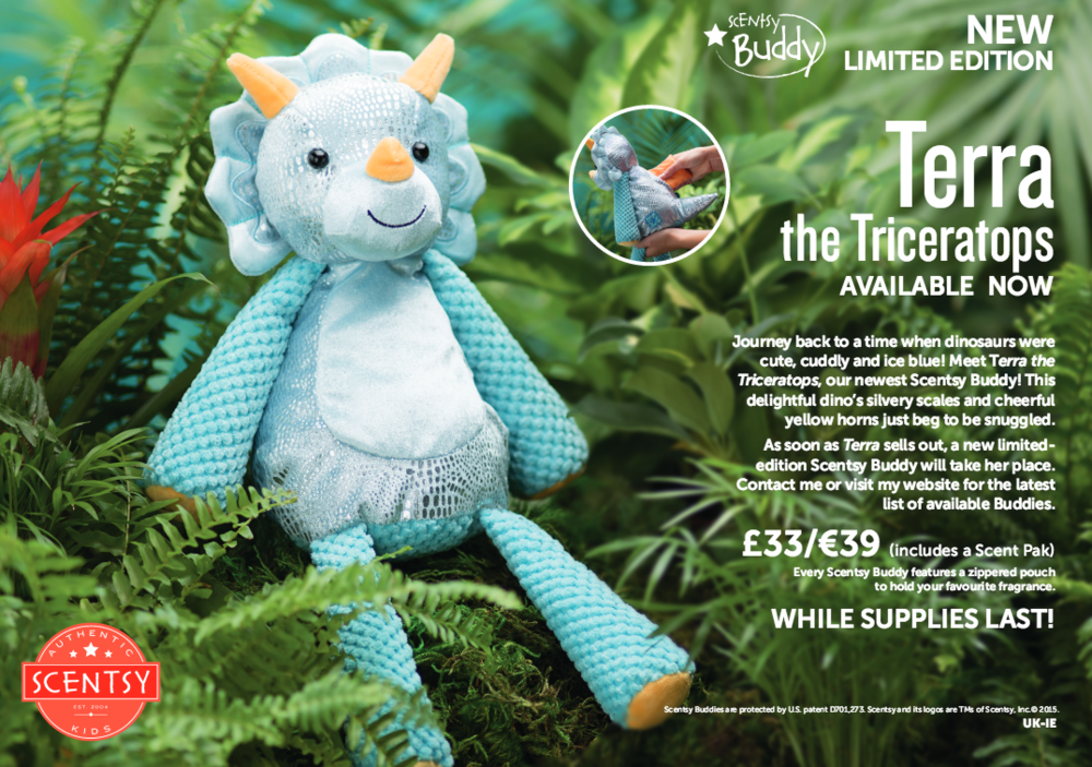 Terra Triceratops Scentsy Buddy