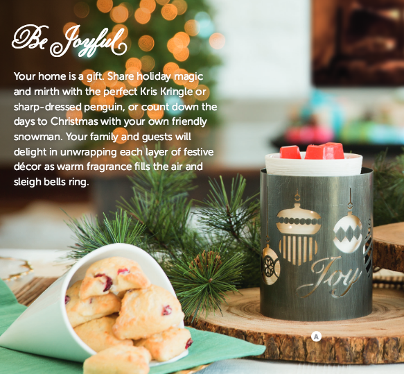 Joy to the World Scentsy Warmer Wrap.  A returning Favourite and goes over a Silhouette Collection Scentsy Warmer or Travertine Warmer.