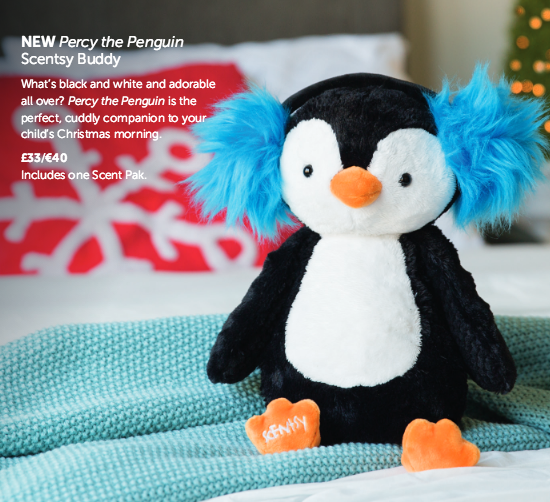 Percy the Penguin Scentsy Buddy, comes with his own Scent pak