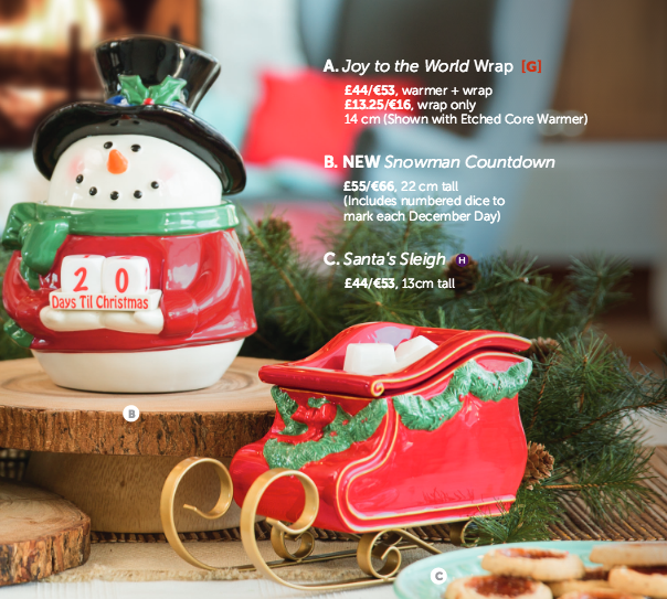 Santas Sleigh Scentsy Warmer and Snowman Countdown an Advent Calender Christmas Warmer.