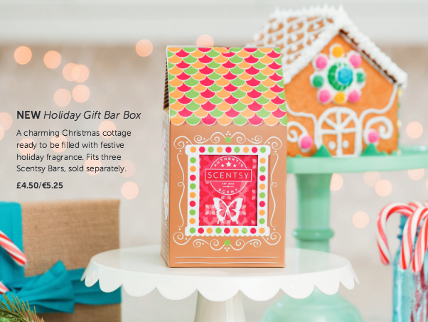 Scentsy Bars are notoriously difficult to wrap neatly for Christmas.  This adorable Holiday GIft Box can be used on its own or wrapped up easily.