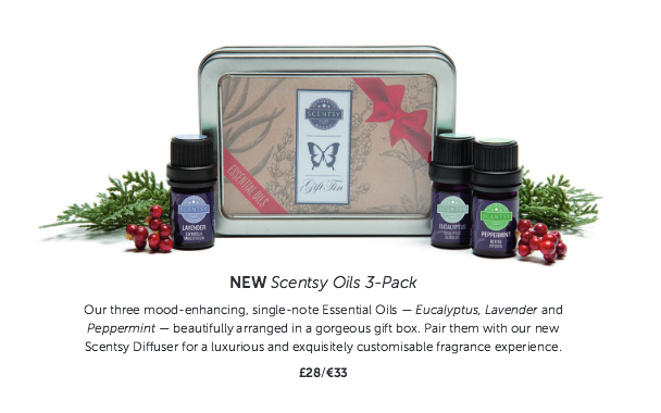 Christmas Gift Pack:  Scentsy Essential Oils to go with our Scentsy Diffusers or your own Diffuser you have at home.