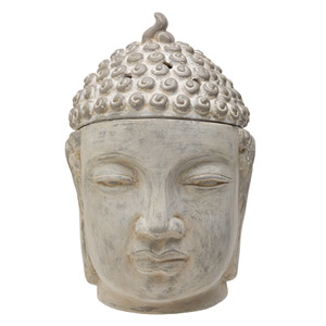 Awaken peace and discover tranquility; transform your space into a serene meditation garden with this Balinese Buddha with an aged, weathered look.