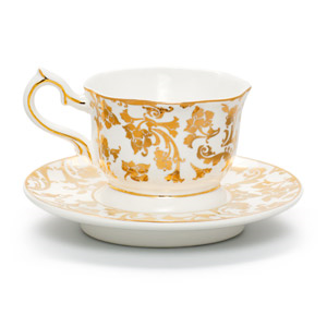 Tea time, any time. English Breakfast keeps the trend towards elegant with ornate detailing and a regal air.
