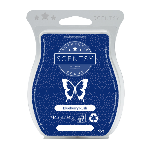Blueberry Rush Scentsy Bar:   ripe blueberry luscious bouquet of lively cranberry, black currant and pomegranate