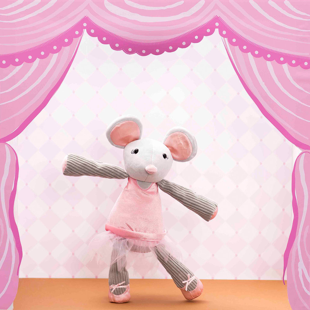 Maddie the Mouse Scentsy Buddy Ballerina with pink Tutu