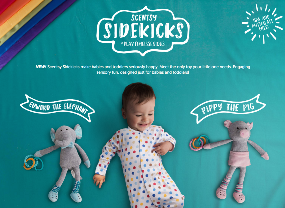 scentsy sidekicks:  scented toys for babies