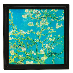 BLOSSOMING TREE FRAME:  An elegant take on our traditional Gallery Frames, Blossoming Tree features a beloved painting by Vincent Van Gogh.