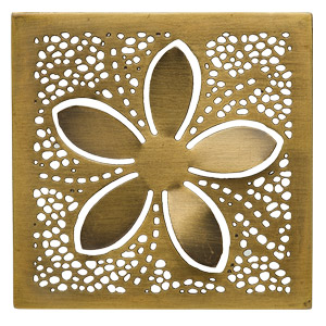 BRASS BLOSSOM FRAME:  A constellation of light surrounds a simple flower in Brass Blossom.