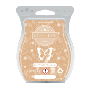 BLOND WOOD & MOONFLOWER SCENTSY WAX