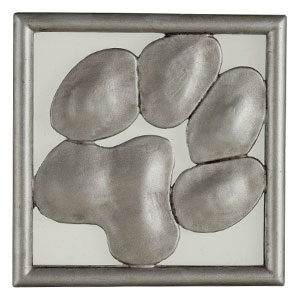 A tribute to the passion you have for your pet, Paws features a loveable paw print in silver