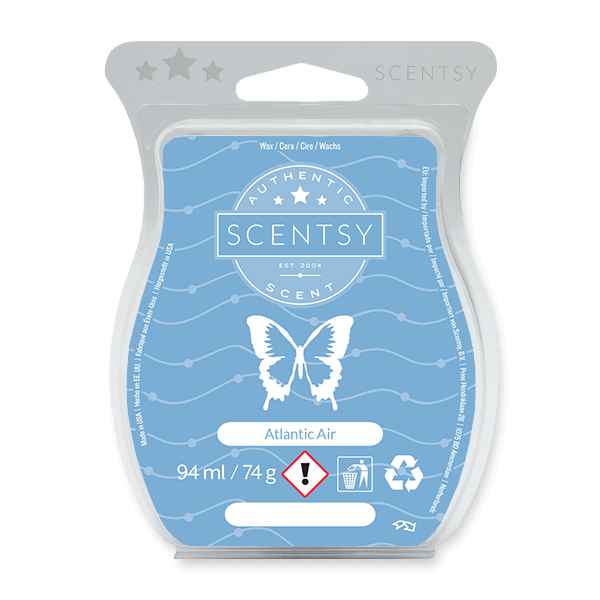 ATLANTIC AIR SCENTSY BAR:  A refined veil of ocean mist, sea salt and white orchid.