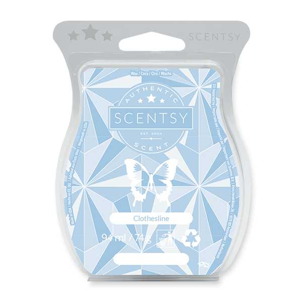 Crisp greens, orange flower, creamy violet and even a hint of white wicker basket will let you savor the scent of just-washed laundry — dried naturally in the fresh air