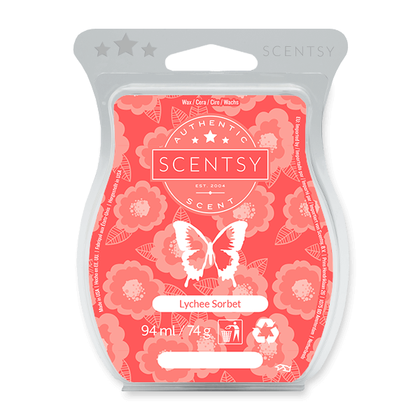 Icy citrus zest and tart red berry juice blended with delicate, sweet white lychee home fragrance wax