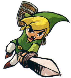 green video game characters - link
